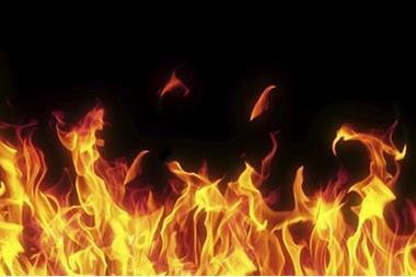 حريق هائل يأتي على فضائية عراقية